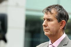 Press Eye - Belfast - Northern Ireland - 22nd August 2011 - DUP MLAs Edwin Poots pictured after their meeting with the Parole Commissioners in Bedford Street, Belfast.