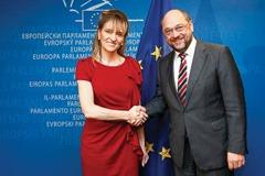 Martin SCHULZ EP President meets MEP Martina ANDERSON