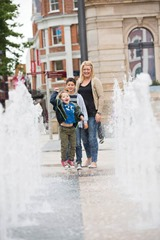 Custom House Square Fountain