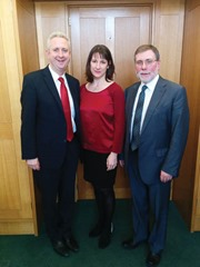 L- R Social Development Minister Nelson McCausland met in London today with Shadown Secretary of State for Northern Ireland Ivan Lewis MP and Shadow Secretary of State for Work and Pensions Rachel Reeves MP to discuss a range of issues including welfare reform