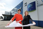 Press Eye - Belfast - Northern Ireland - 7th July 2014 - Picture by Kelvin Boyes / Press Eye.Press Release imageEnterprise Trade and Investment Minister Arlene Foster is pictured with Janet McCollum, Chief Executive of Moy Park, after announcing a £170m expansion by the company that will provide 628 new jobs across three sites in Dungannon, Craigavon and Ballymena.