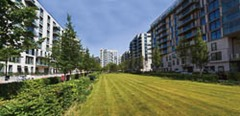 Pictured the Olympic & Paralympic Village or East Village. Pictured are the Mirabel Gardens. Pic By David Poultney for the ODA