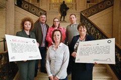 "Three political parties sign up to a pledge to tackle religious inequality in housing in North Belfast  North Belfast residents in housing stress hosted an event today in Stormont to call for urgent Executive action to address the long standing housing need that is adversely impacting on people from the Catholic community.  The ""Equality Can't Wait: Residents Tell Their Stories – A Call For Action"" event urged the NI Executive to implement United Nations call for ""concerted effort"" to tackle housing inequality.  Carál Ní Chuilín MLA (Sinn Fein), Dolores Kelly MLA (SDLP) and Stuart Dickson MLA (Alliance) signed up to a ""pledge"" which commits them to use all the powers available to them to support a resourced and timetabled strategy to address North Belfast housing inequality. Pictured are front row (l-r) Carál Ní Chuilín MLA (Sinn Fein), Equality Can't Wait campaigner and North Belfast resident Marissa McMahon; and Dolores Kelly MLA (SDLP). Back Row (l-r) Hugh McAuley and Alison Scott, Equality Can't Wait campaigners and North Belfast residents; and Seán Brady, a development worker with the Participation and Practice of Rights (PPR) organisation.  ENDS//  Picture by Phil Smyth"