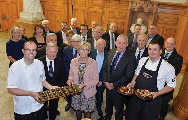 NILGA Conference reception, Guildhall, Derry/Londonderry, celebrating the artisan produce of the North West with Ian Orr from Browns Restaurant supported by Derry City and Strabane District Council.