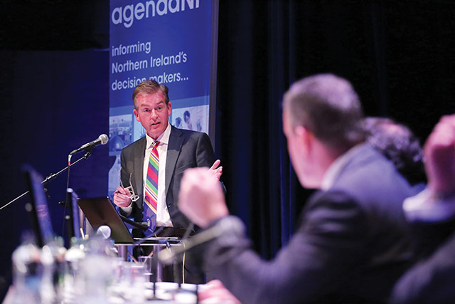 Mark Carruthers at agendaNi's Brexit conference.