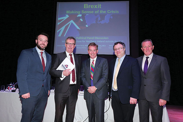 Speaking at agendaNi's Brexit conference, four of the five main parties outline their respective analyses of the potential implications for the North. Ciarán Galway reports.
