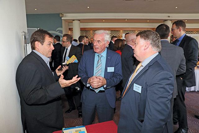 Bob Ford, British Power International; John Woods, Linwoods; and Michael Hewitt, SONI.