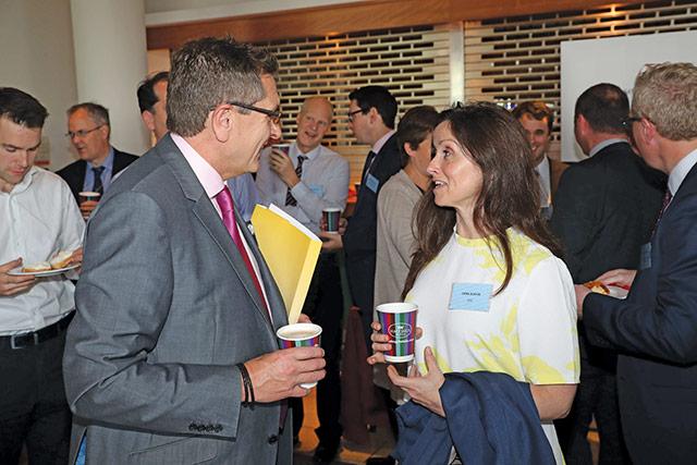 Alan McVicker, Strategic Investment Board Limited with Cera Slevin, ESB.
