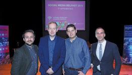 Seán Earley, New/Slang; Paul Coleman, Tourism NI; Stuart Robinson, Cool FM; and Paul McGarrity, Octave Digital.