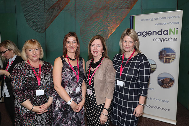 Alison Goddard, Lisburn and Castlereagh City Council; Claire Speers, agendaNi; Theresa Donaldson and Claire Bethel, Lisburn and Castlereagh City Council.