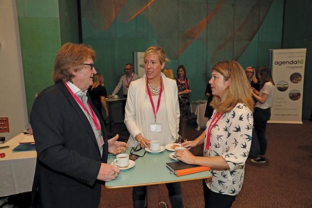 Alan Largey, Co-operation Ireland; Julie McCartney, RLA Group; and Danielle McBride, Whites Speedicook.