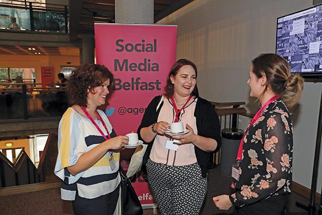 Gwen Rafferty, Mackle Petfoods; Amanda Neuman, South Belfast Partnership Board; and Claire McCann, Mackle Petfoods.