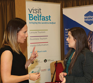 Sheila Geary, Visit Belfast and Aoife Robb, PKF-FPM.