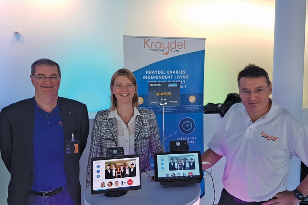 Kraydel directors Derek Bell,  Lisa Noelle Smith and Paul Moorhead showcase at Invent 2016.