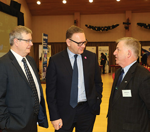 Tony O'Neill, Agri-Food Strategy Board, Roger Wilson, Armagh City, Banbridge and Craigavon Borough Council and Gerry Boyle, Teagasc.