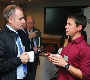 Malachy Campbell, National Trust and Andrew McMurray, NRG Wind Solutions.
