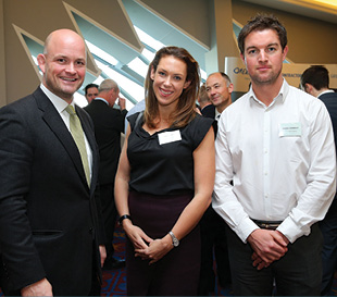 Patrick McClughan, Gaelectric; Emma Cooper, Carson McDowell and Ciaran Donnelly, Wind Prospect.