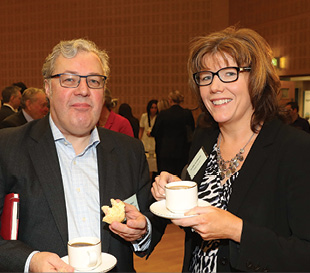 John Gilchrist, Gilden Photonics and Claire Guinness, Fane Valley.