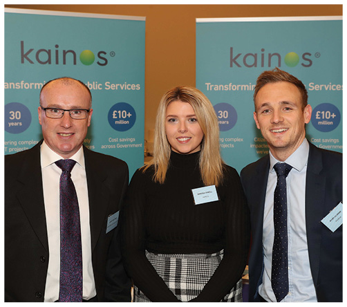 Larry McAteer, Northern Ireland Water; Shauna O'Neill, Kainos and Ryan Clarke, Kainos