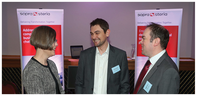 Kathryn Howe, Robert Smith and Dermot Boyle from Sopra Steria