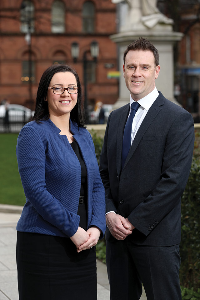 Claire McKeown and Gordon Davidson of Ulster Bank.
