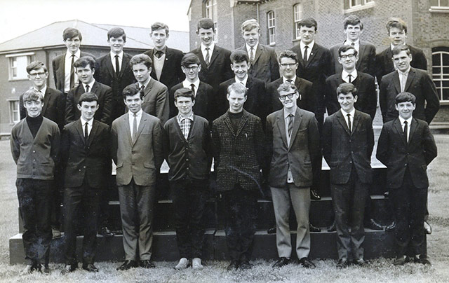 Leaving Cert class 1966, Brendan McGrath: back row third in from the right.