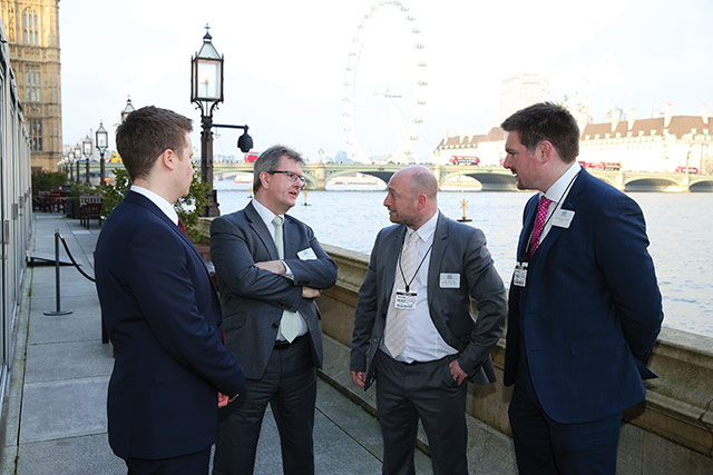 Neil Dalzell from ND Events and Aaron McGreevy from McGreevy Engineering with Sir Jeffrey Donaldson, MP and Councillor Scott Carson.