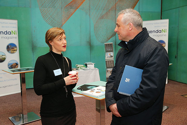 Sarah McKay, Concentrix and Brendan Forde, Department of Agriculture, Environment & Rural Affairs.