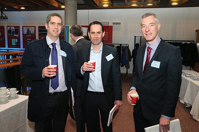 Michael McClelland, PA Consulting Services; Andrew Webb, Northern Ireland Office and Graeme Wilkinson, Department of Agriculture, Environment & Rural Affairs.