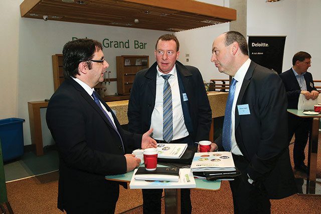 Tom Reid, Department for Infrastructure; Michael MacDonagh, North/South Ministerial Council and Fergal O'Brien, Ibec.