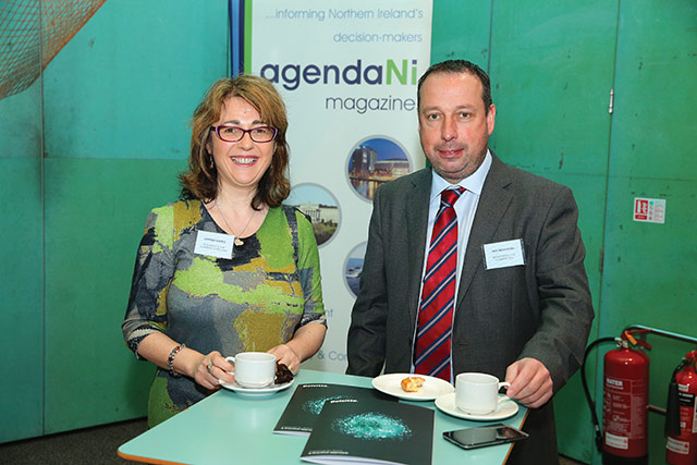 Davina Eades, Business in the Community and Roy McGivern, Department for Communities.