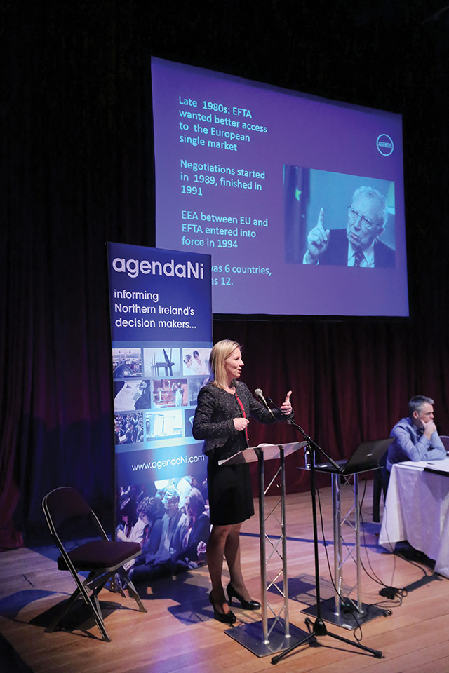 Visiting speaker Marte Gerhardsen, Agenda think-tank, Oslo.