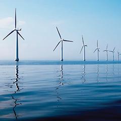 Turbines-calm-sea