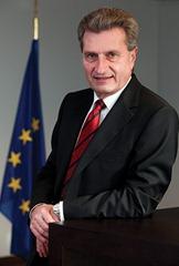 Günter Oettinger portraits.