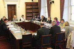 Committeee members at work last November