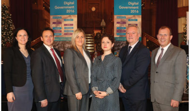 Helen Ferris, Kainos; Graham Cadle, Croydon Council; Deirdre Simpson, Inland Fisheries Group, Department of Agriculture, Environment and Rural Affairs; Laura Citron, WPP Public Sector; Bill McCluggage, Laganview Associates and Paul Wickens, NICS Enterprise Shared Services